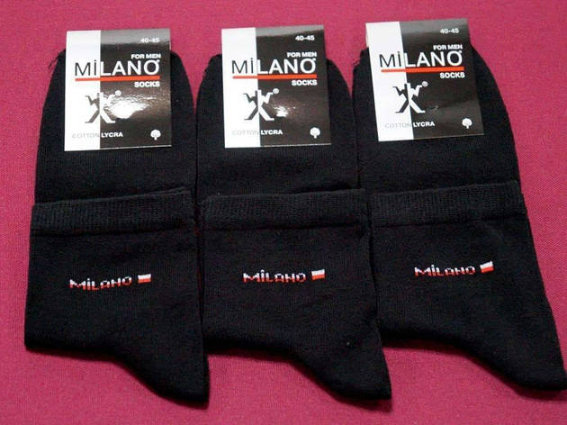 Носки Milano ликра средние 1, 41-45 ( 27-29 ) мужские, фото 2