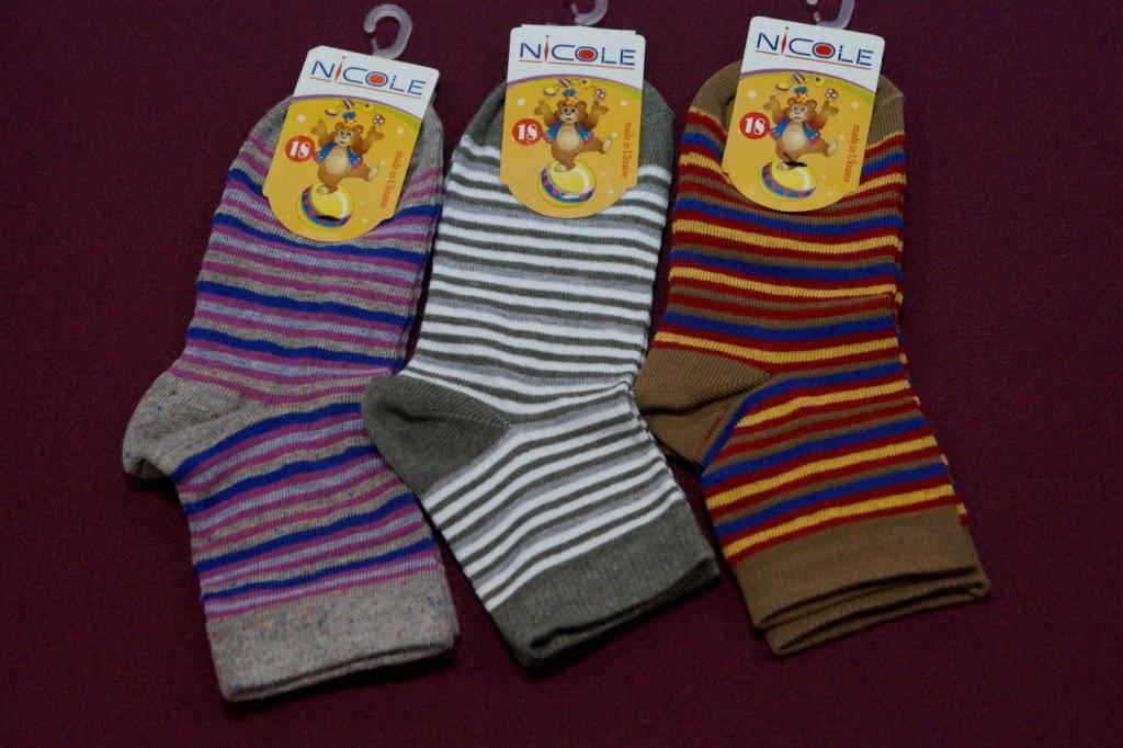 Шкарпетки НІКОЛЬ дитячі СМУЖКА 18 дитячі