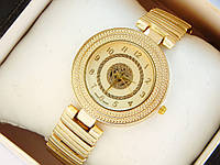 Женские кварцевые наручные часы Versace золотого цвета с орнаментом