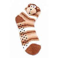 Теплые детские носки FLUFFY ANIMALS с апликацией Желтый 35/38