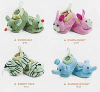 Теплые домашние тапочки SMYKI BABY с игрушкой 0-6 месяцев мужской