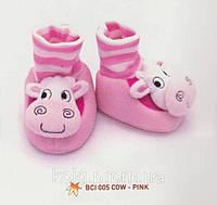 Теплые домашние тапочки CIAPKI для младенцев Розовый 6-12 месяцев