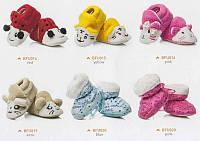 Теплые домашние тапочки FUTRZAKI для младенцев Малиновый 6-12 месяцев