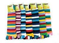 Носки женские Аttractive цветные полоски, с пальцами разноцветный универсальный
