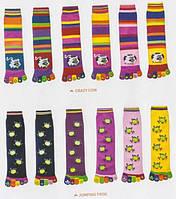Женские носки Аttractive с печатным рисунком, пальцы разноцветный универсальный