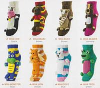 Теплые носки WOMAN HOMELINE ANIMALS с апликацией разноцветный универсальный