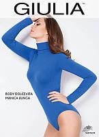 Боди Giulia Body DOLCEVITA MANICA LUNGA S/M NERO (черный)