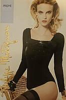 Блузка-боди с длинными рукавами Prisme Body Черный 3 (M)