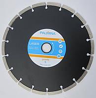 Алмазный диск для резки, твердого гранита PALMINALASER GRANITE S Segment 230x2,8/2,0x8/18Sx22 ЧЕРНЫЙ
