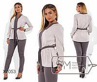 Костюм-двойка - блуза под пояс из плательной вискозы и брюки Размеры - 48, 50, 52, 54