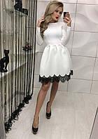 Платье низ вставка гипюр №331 (АБ)