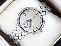Женские наручные часы Omega с дополнительным циферблатом - серебро