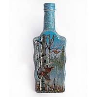 Подарок охотнику Сувенирная бутылка Мужской сувенир для охотника Ручная работа