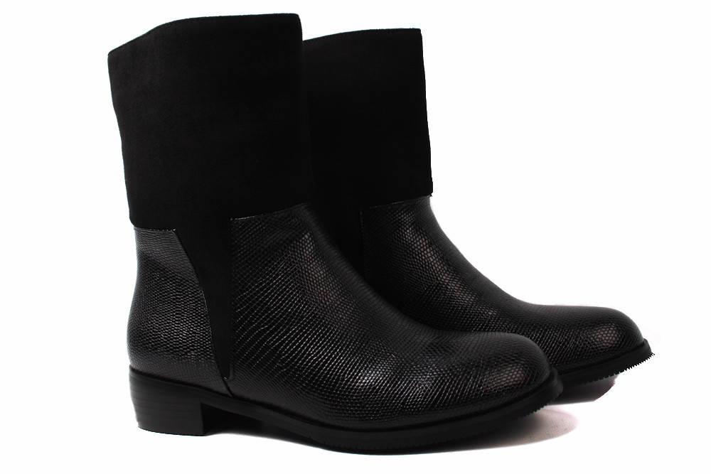 Модельные ботинки женские Modern эко-замш, эко-лак, цвет черный (ботильоны 8aea38f35db