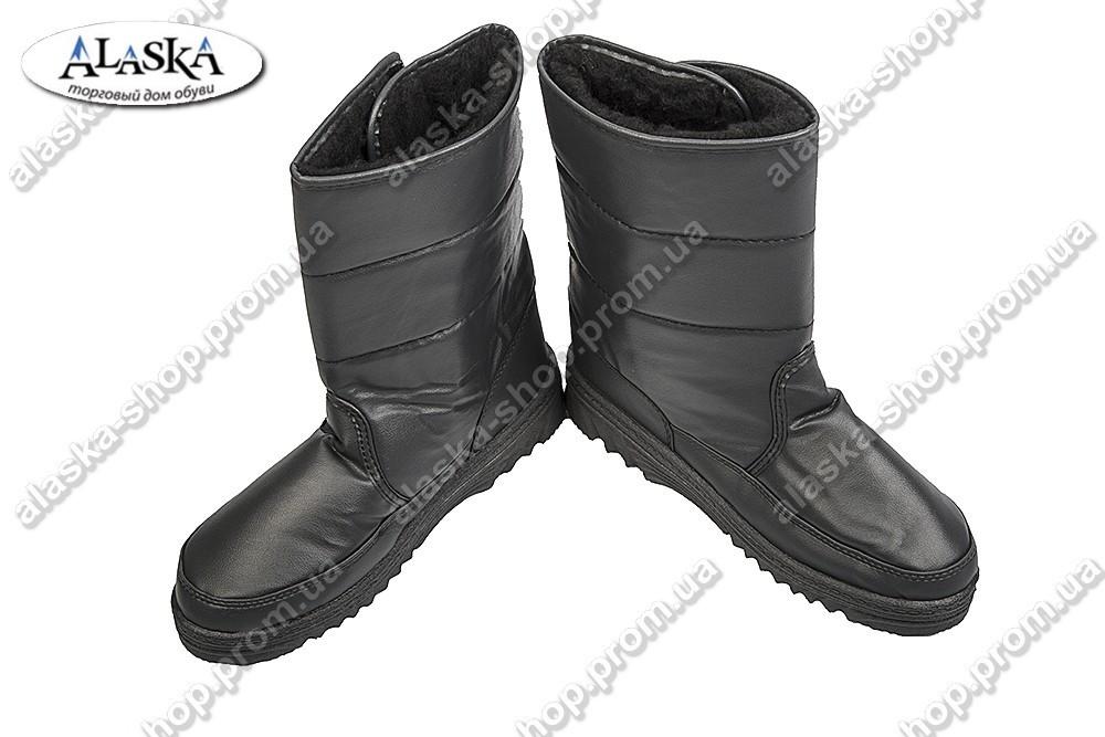 Женские сапоги черные (Код: 713)