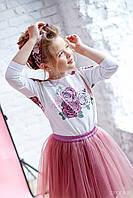 Комплект (блузка+спідниця): 7004-2