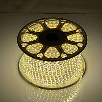 Светодиодная LED лента SMD 2835-60 WW тёплая белая IP67 220В 220V