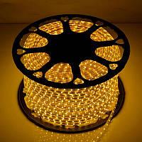 Светодиодная LED лента SMD 2835-60 Y жёлтая IP67 220В 220V