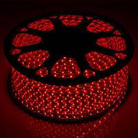 Светодиодная LED лента SMD 2835-60 R красная IP67 220В 220V