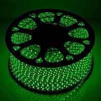 Светодиодная LED лента SMD 2835-60 G зелёная IP67 220В 220V