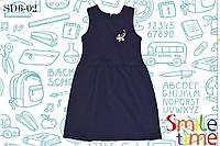Платье для девочки утеплённое р.122,128,134,140,146 SmileTime Sue, темно-синее