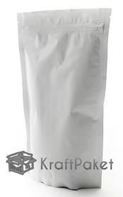 Дой-пак белый матовый металлизированный