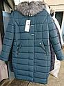 Зимнее женское пальто пуховик Майя размеры 48- 56 Мех Енот!, фото 10