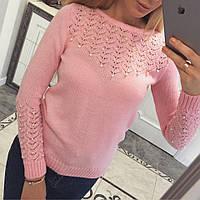 Женский Джемпер свитер кофта из кожи