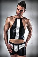 Черно-белый сексуальный комплект Passion 018 SET