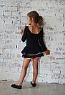 Купальник с юбкой и разноцветной отделкой, фото 2