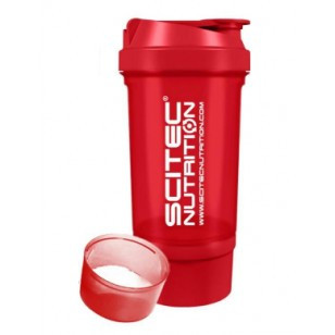 """SciTec Nutrition SHAKER 500 Travel """"Red"""" 2 comp."""