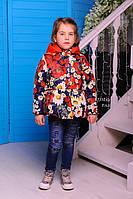Куртка для девочки с цветочным принтом МЕРИ принт 1