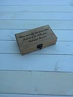 Шкатулочка из дерева с лазерной гравировкой