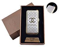 """USB + газовая зажигалка в подарочной упаковке (спираль накаливания, острое пламя) """"Chanel"""""""