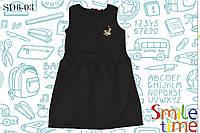 Платье школьное утеплённое для девочки р.122,128,134,140,146 SmileTime Sue, чёрное