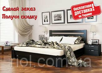 Ліжко дерев'яна Селену двоспальне з підйомним механізмом