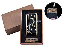 """USB + газовая зажигалка в подарочной упаковке (спираль накаливания, нормальное пламя) """"Паутина"""""""