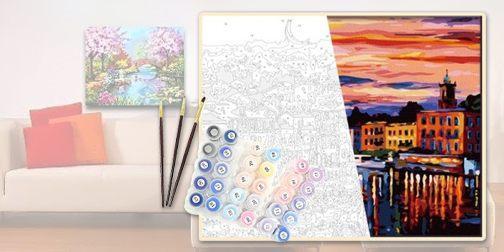 Как раскрашивать картины раскраски по номерам на холсте ...