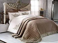 Красивое покрывало для кровати Zebra Perla Бежевый 260*270