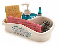 Кухонный аксессуар с емкостью для хранения и жидкого мыла