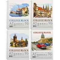 """Колледж-блок A5 Color """"KRAFT"""" 96л., клетка с перф., спираль"""
