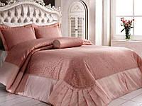 Красивое покрывало на кровать Zebra Soft Капучино 260*270