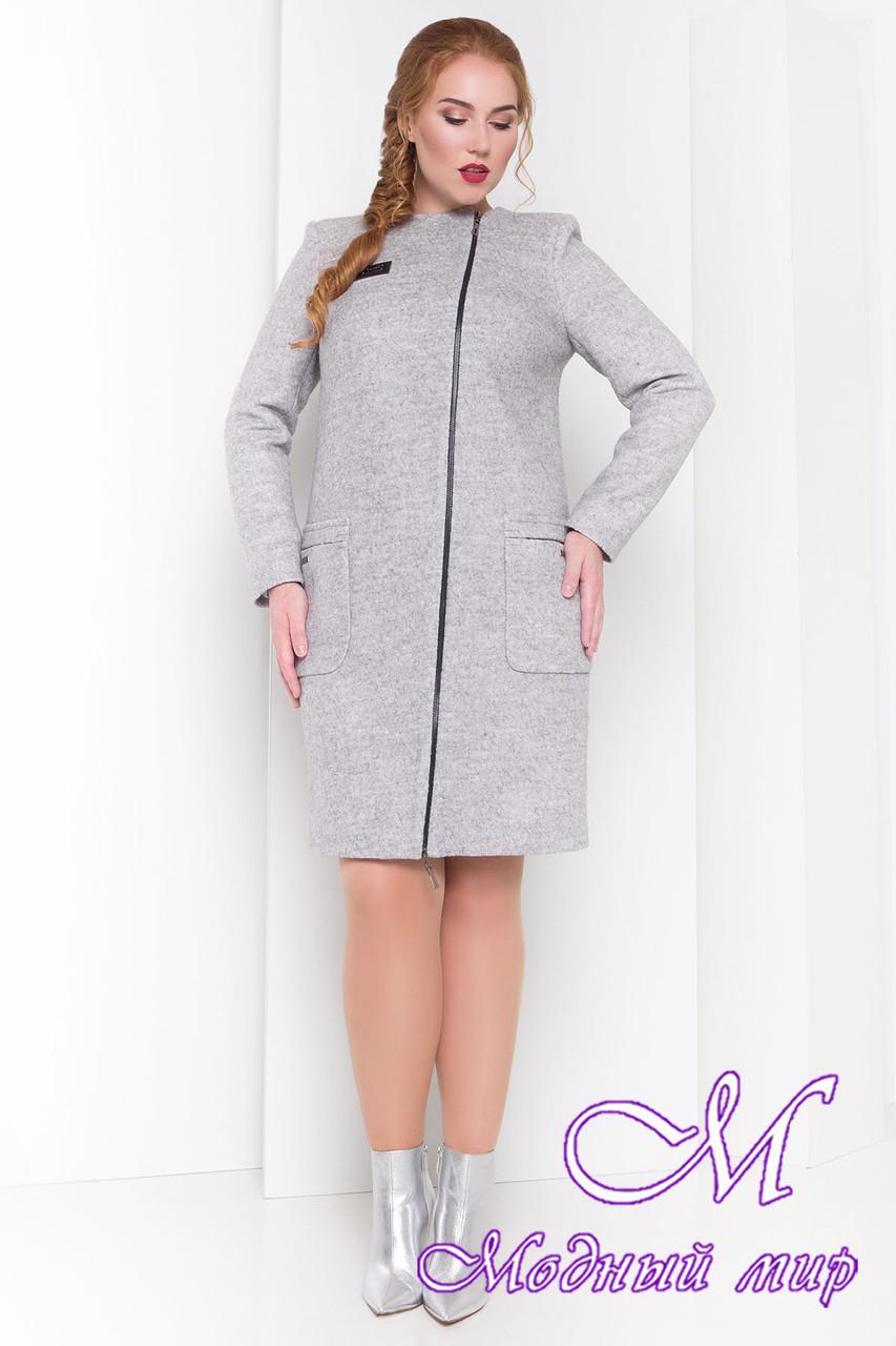 Женское демисезонное пальто большого размера (р. XL, XXL, XXXL) арт. Милтон Донна 3376 - 17318