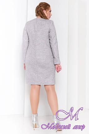 Женское демисезонное пальто большого размера (р. XL, XXL, XXXL) арт. Милтон Донна 3376 - 17318, фото 2