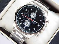 Мужские кварцевые наручные часы Casio Edifice стального цвета, черный циферблат