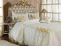 Красивое покрывало на кровать Zebra Bouquet Капучино 260*270