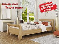 Кровать деревянная Диана из натурального Бука односпальная , фото 1