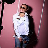 """Рубашка /блуза женская стильная на кнопках с длинным рукавом белая и черная """"Gucci"""" коттон, фото 4"""