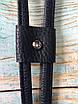 Затяжка для сумки (еко-шкіра). Колір Темно-синій, фото 2