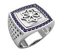 Кольцо серебряное Молвинец с камнями 30335